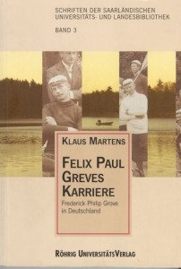 Book Cover: Felix Paul Greves Karriere