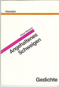 Book Cover: Angehaltenes Schweigen