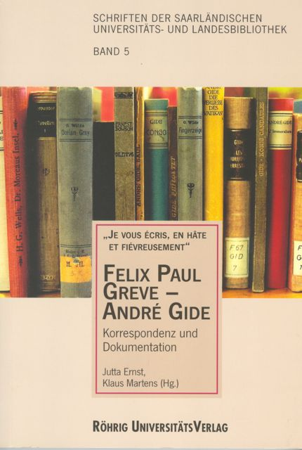 Book Cover: Felix Paul Greve - André Gide
